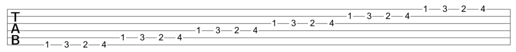 Variations on the guitar finger gym exercise