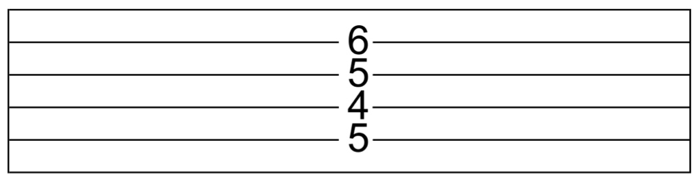 D7#9 in guitar tab