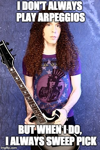 Marty Friedman Sweep Picking Economy Picking