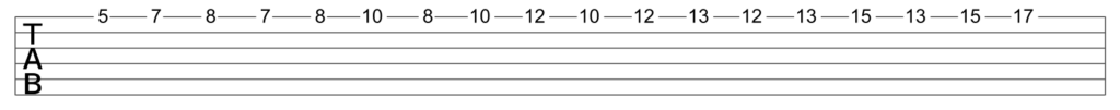Single string minor scale ascending sequence of 3