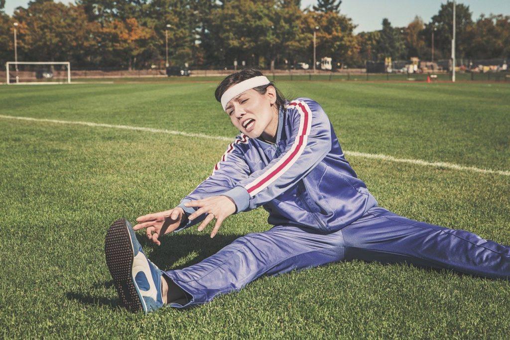 Guitar warm up exercises - athlete stretching